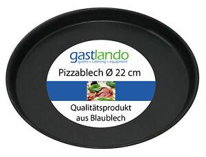 40 Stück Pizzablech Pizzaform Profiqualität aus Blaublech rund Ø 22 cm Gastlando
