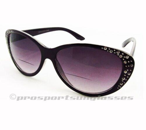Cat Eye Rhinestone Bifocal Sunglasses Sun Reader Glasses 1.0 1.5 2.0 2.5 3.0