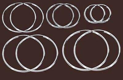 925 Echt Silber *** 1 Paar Creolen 2,0 Mm / 25-30-45-60-100 Mm In Verschiedenen AusfüHrungen Und Spezifikationen FüR Ihre Auswahl ErhäLtlich