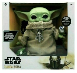 Star-Wars-Mandalorian-The-Child-11-034-Baby-Yoda-Plush-Doll-Necklace-amp-Accessories