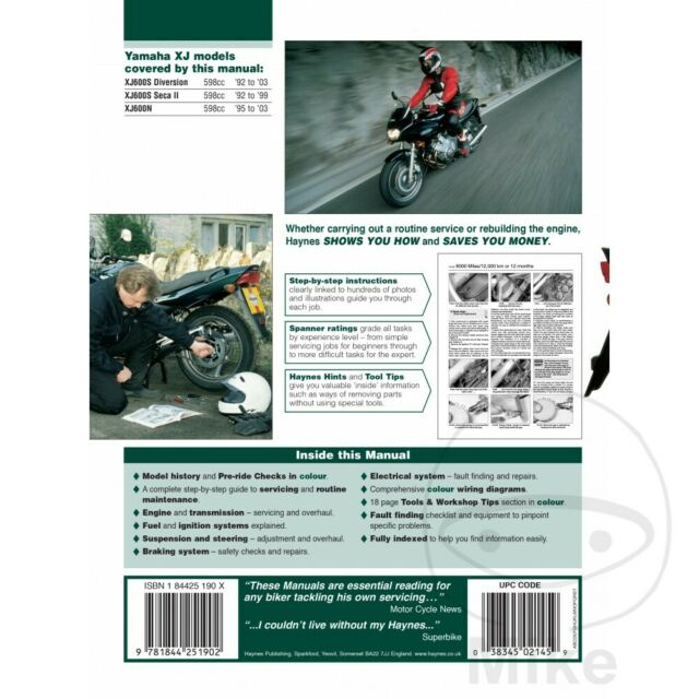 Auto & Motorrad: Teile Yamaha XJ 600 SH Diversion 1992 ... Xj Wiring Diagram on