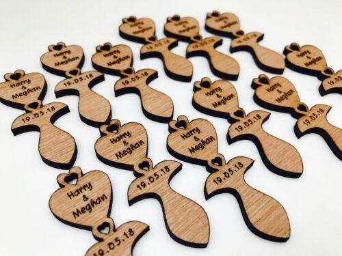 Personnalisé Traditionnel Welsh Style Mini Love-cuillères Table Décoration Faveurs