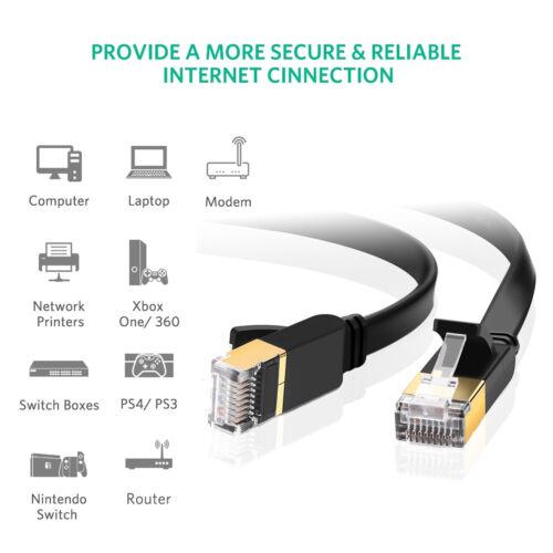 Cat 7 Plug Double Shielded STP Wires RJ45 Ethernet Cable 3M 3M 8M 15M 20M LOT