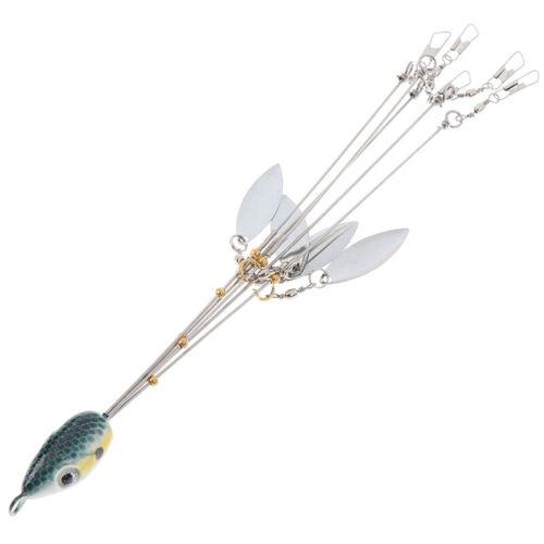 1pc Umbrella Fishing lure Rig 5 Arms Rig Head Fishing Group Lure Exten.vi