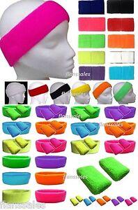 Neon-Wristbands-Sweatbands-Headband-or-Pk-2-Wrist-Bands-Neon-Fancy-Dress