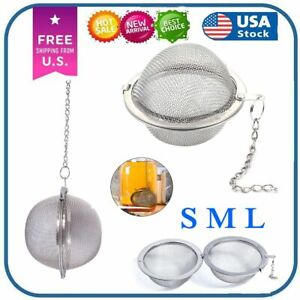 Tea Infuser Ball Mesh Loose Leaf Herb Strainer Stainless Steel Secure Locking US
