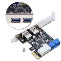 PCI-E x1 to 2Ports USB 3.0 HUB PCI Express NEC Expansion Card Adapter Extender S