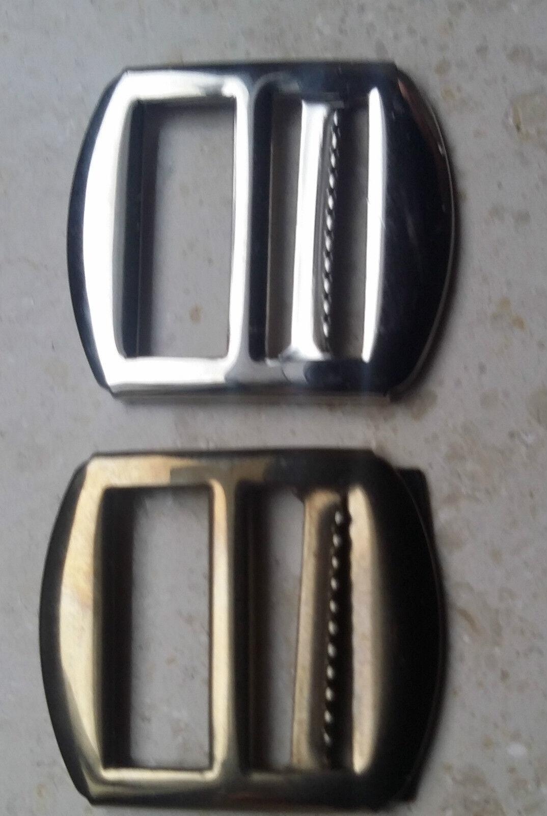 2 Stück Gürtel Schieber mit Stopper, 20mm Regulator