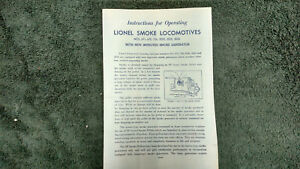 Details about LIONEL # 671 675 726 2020 2025 2026 SMOKE LOCOMOTIVES on