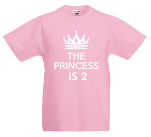Image Is Loading The Princess 2 2nd Birthday Gift T