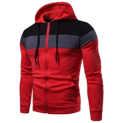Men/'s Hoodie Warm Hooded Sweatshirt Coat Slim Fit Jacket Outwear Jumper Sweater