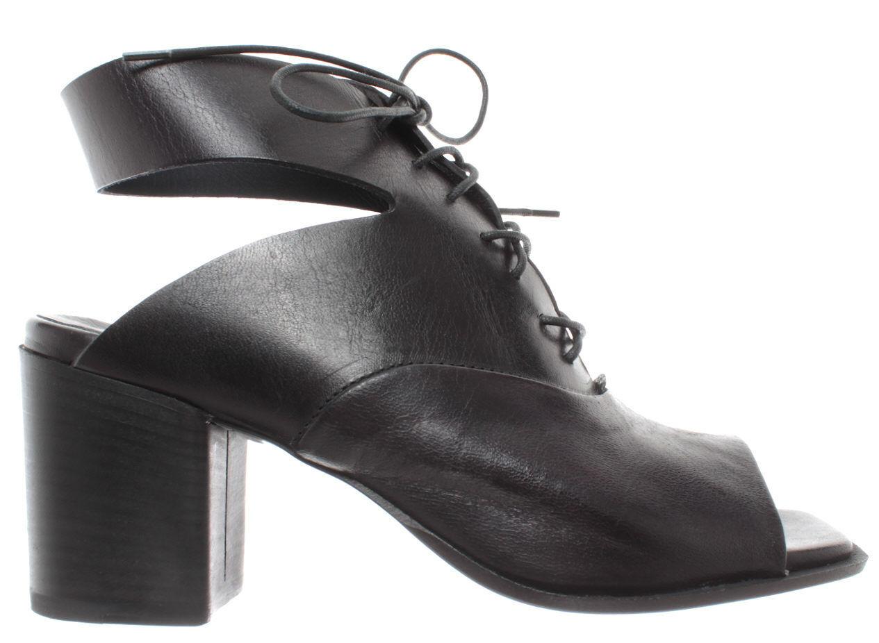 Pantanetti women shoes sandal heel 12402g black leather black sanelle new
