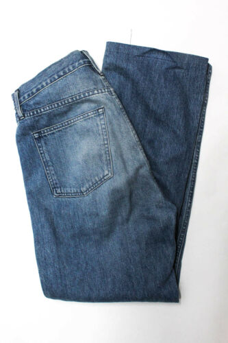 3x1 NYC Womens Wide Leg Side Button Jeans Blue Siz