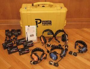 Porta-Phone-Digicom-5-Station-Football-Coach-Headset-Intercom-Comm-System