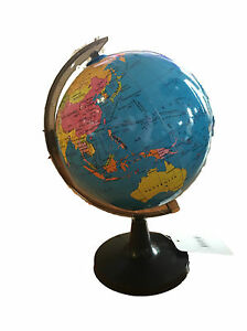 New blue ocean world globe map with swivel stand geography table image is loading new blue ocean world globe map with swivel gumiabroncs Images