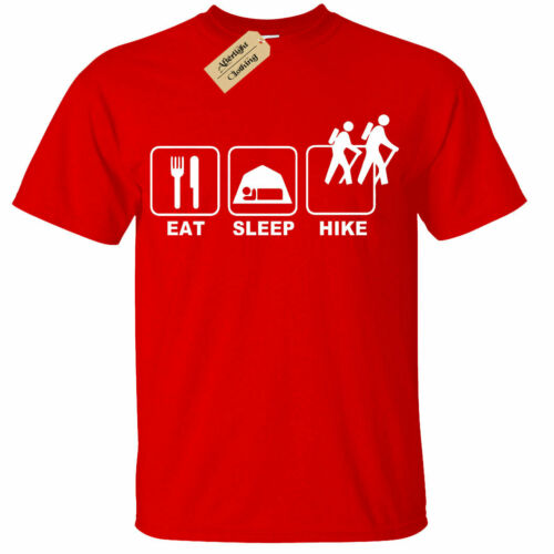 Eat Sleep HIKE T-Shirt Mens hiking camping mountain climbing trekking gift tee