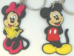 1-5-034-x2-Mickey-Mouse-Minnie-Disney-Channel-Clubhouse-PVC-Keychain-Lot-USA