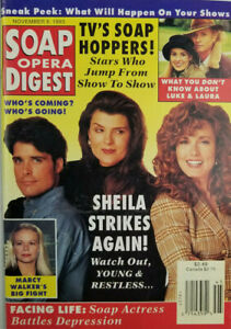 Soap Opera Digest Magazine Nov 9 1993 Marcy Walker - Young & Restless - NoML VG