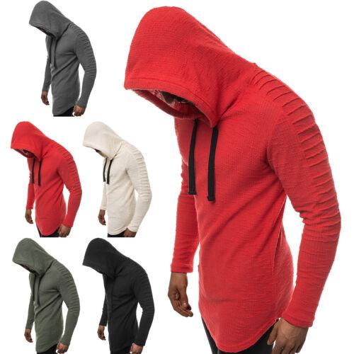 Sweatshirt Pullover Sweatjacke Langarmshirt mit Kapuze Herren OZONEE A//1232