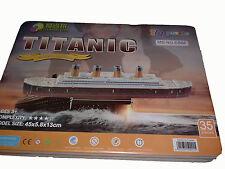 TITANIC 3D Puzzle CE 4 SHEETS Education LARGE MODEL RMS TITANIC SHIP 35 PIECES