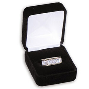 12  Black Flocked Velour Ring Gift Boxes Ring Box Jewelry Boxes