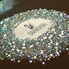 SWAROVSKI crystals CLEAR AB non hotfix flat back for nails shoes clothes* 30pcs
