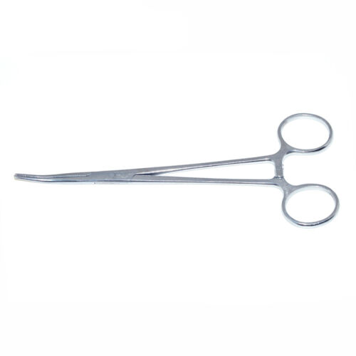 5 inch Curved Fishing Forceps Stainless Hemostat Locking Clamps Carp -//de