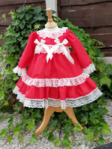 DREAM 0-5 years BABY GIRLS TRADITIONAL ROMANY NETTED DRESS PANTS 0 REBORN DOLLS