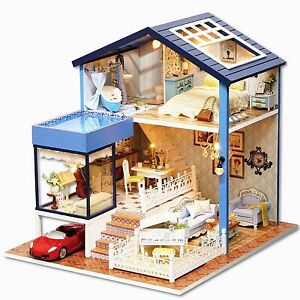 Details About Diy Handcraft Miniature Wooden Dolls House Project My Little House In Seattle