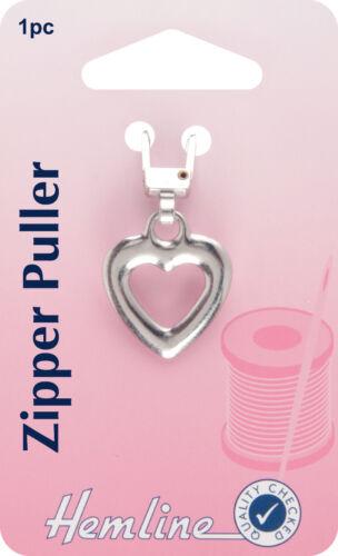 H164.03 Jacket Zipper Pull Hemline Silver Heart Coat