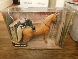 Vtg RARE Breyer Western Horse #758 Roy Rogers Trigger Hollywood w Saddle & Video