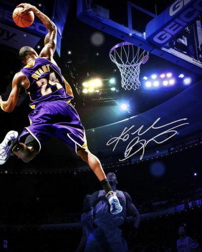 Kobe Bryant Dunk Basketball Star Print Art Silk Poster