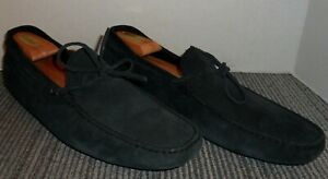 TOD-039-S-ITALIAN-CRAFTED-BLACK-SUEDE-LEATHER-DRIVING-MOCS-MEN-039-S-SIZE-12-M