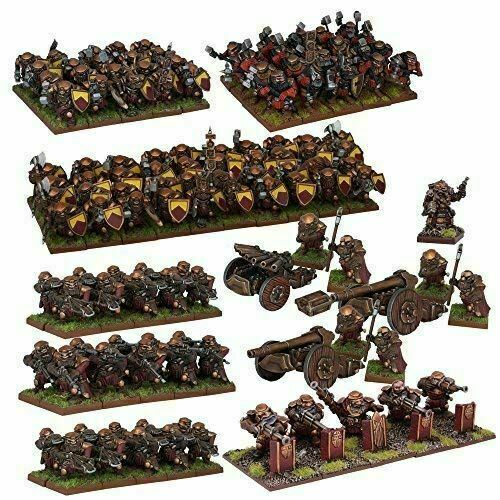 Mantic Kings of War MGKWD111 Dwarf Mega Army Box Set 60 Miniatures