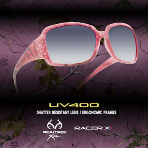 bfd249412b2 Image is loading Womens-Pink-Realtree-Camo-Sunglasses -with-Rhinestone-Camouflage-