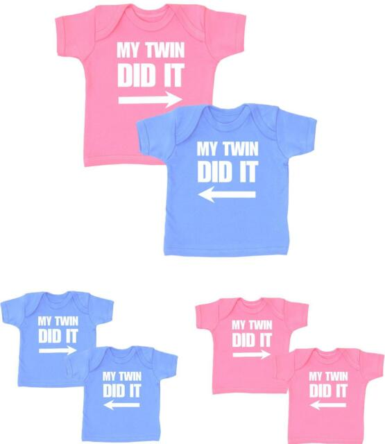 BabyPrem Baby Clothes My TRIPLETS Did It Multiples 3 T-Shirts Tops Shower Gifts