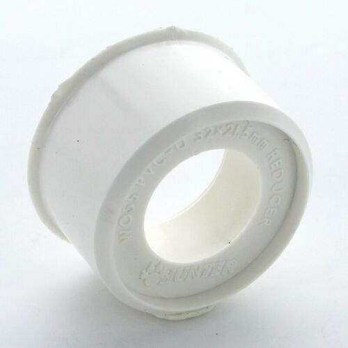 HUNTER W57 WHITE WASTE PIPE 40MM X 32MM SOCKET TO PIPE REDUCER