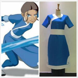 Details about New ! AvatarThe Last Airbender Katara cosplay costume dress