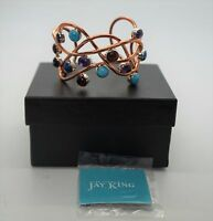 Jay King Copper Gemstone Turquoise Mine Finds Cuff Bracelet W/ Box
