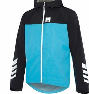 Piu Miglia Commuter Mens Cycling Jacket Blue Hi-Viz Reflective Waterproof M L