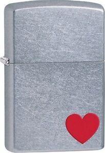 Zippo-29060-red-heart-street-chrome-finish-full-size-Lighter