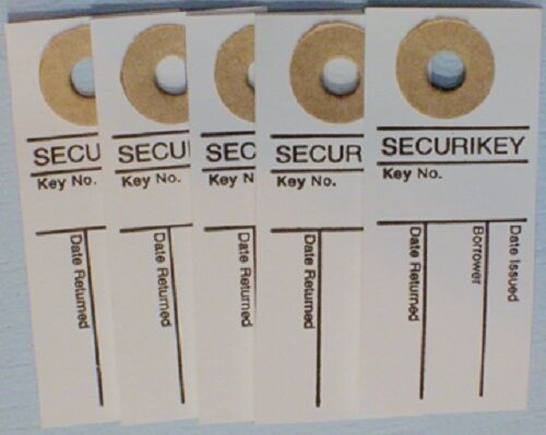 Pack of 50 AKSOTO50 Securikey Key Sign Out Tabs Ref