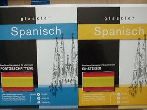 Glasklar-Spanisch-Sprachlernsystem-Kombi-Einsteiger-Fortgeschrittene-NEU