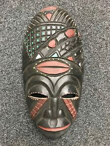 masque africain peint