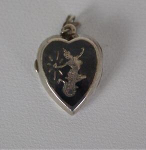 (ref165BO) Superb Siamese Solid Silver Locket Vintage