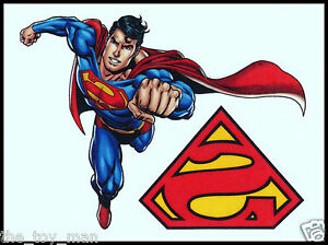 Superman logo temporary tattoo dc comics super hero 2 for Superhero temporary tattoos