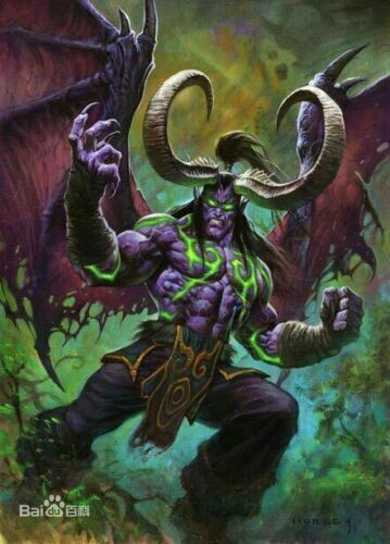 1//32 95mm Resin Figure Model Kit Illidan Stormrage Demon Elf Warcraft Unpainted