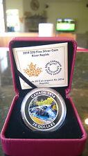 2014 Canada 20$ 1 oz. Fine Silver Coin - River Rapids