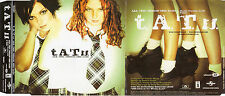 "T.A.T.U. / TATU ""ALL THE THINGS SHE SAID "" SPANISH PROMO CD SINGLE + PRESS NOTE"