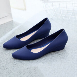 New-Womens-Suede-Boat-Shoes-Casual-Slip-On-Flats-Shoes-Loafers-Ballet-Shoes-FIT